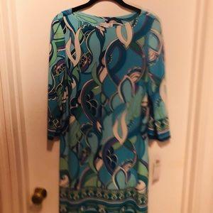 Women's London Times Aqua/White Dress NWT Size 8